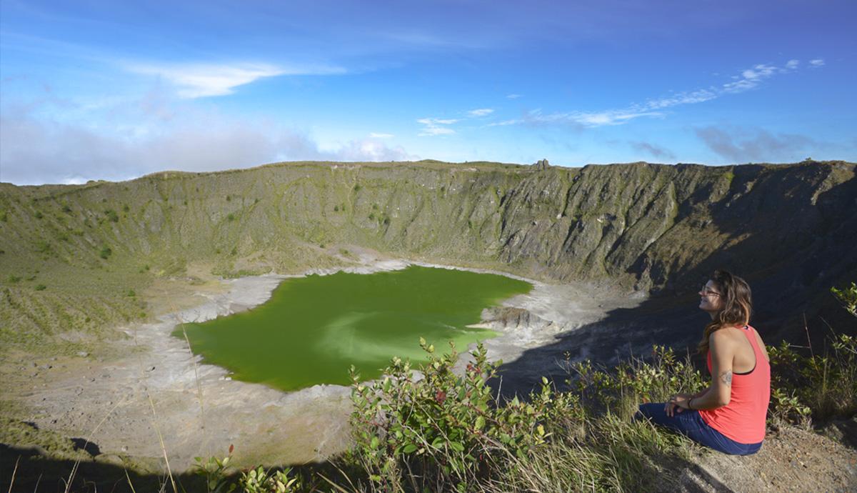Volcán Chichonal, un bello agujero en Chiapas.